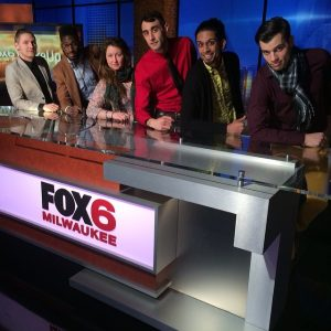 Joni Clare singing with Fable and the World Flat on Fox 6 Milwaukee