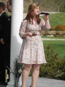 Joni Clare performing for a Wedding